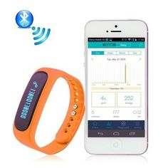 Enjoy Life with NEW Rechargeable E02 Upgrade Black Blue  Orange Fitness Tracker Wristband Set Waterproof Bluetooth Sport Smart Pedometer Bracelet Facebook  Twitter iPhone  Android Best Buy * Visit the image link more details.