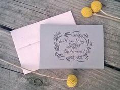 Will You Be My Bridesmaid Card, Bridesmaid Invitation