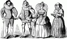 This pin shows noble people who are ready to go to a wedding. Noble people like Macduff also need to be dressed well for specific occasions. They still tended to show their class with the outfit worn. Elizabethan Theatre, Elizabethan Clothing, Elizabethan Costume, Elizabethan Fashion, Elizabethan Era, Medieval Fashion, Tudor Fashion, Medieval Dress, Victorian Fashion