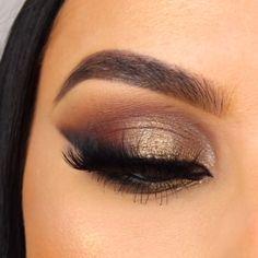 Brown Makeup Looks, Makeup Eye Looks, Eye Makeup Steps, Beautiful Eye Makeup, Makeup For Brown Eyes, Eyebrow Makeup, Skin Makeup, Eyeshadow Makeup, Brown Smokey Eye Makeup Tutorial