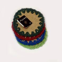 porta copos em juta e crochê www.gostodefazer.com