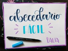 Abecedario #2 - Tutorial lettering - Rotulador tombow dual brush - UGDT - YouTube Faux Calligraphy Alphabet, Scrapbook Letters, Book Drawing, Diy Letters, Learning The Alphabet, Lettering Tutorial, Tombow, Brush Lettering, New Fonts