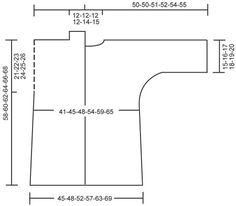 """Giacca DROPS lavorata ai ferri con maniche a 3/4 a maglia legaccio in """"Ice"""". Taglie: S - XXXL. Modello gratuito di DROPS Design."""