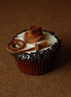 Indiana Jones cupcake