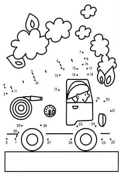 Connect the dots and color ! Kindergarten Lessons, Kindergarten Worksheets, School Worksheets, Worksheets For Kids, Fire Prevention Week, Tracing Shapes, People Who Help Us, Community Workers, Montessori Math