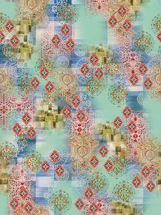 Textile Prints, Textile Patterns, Textile Design, Fabric Design, Floral Design, Textiles, Square Patterns, Line Patterns, Fabric Samples