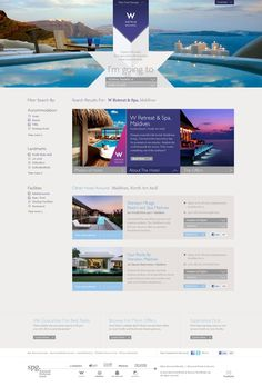 Ideas & Inspirations für Web Designs Starwood Hotel by hello kev, via Behance Schweizer Webdesign http://www.swisswebwork.ch