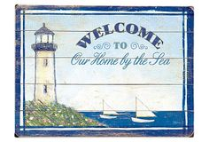 Our Home by the Sea Wood Sign on OneKingsLane.com