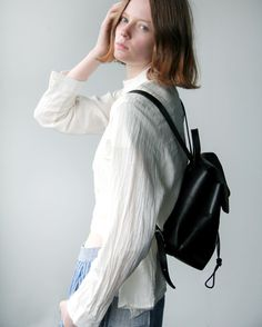 Blunt cuts & leather backpacks - Shop the new minimal backpack collection by Alfie Douglas UK