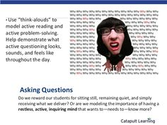 "• Use  ""think-alouds"" to model active reading and active problem-solving. Help demonstrate what active questioning looks, ..."