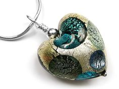 Murano Glass Heart Pendant - Spot