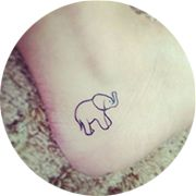 Small Elephant Tattoo Design: On Toe Side