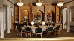 The Titanic in miniature: Dining room