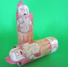 Roman Centurion Tissue Paper Roll Craft