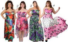 Colorful Print Dresses - Printed Prom Dresses - Plus Size Prom Dress