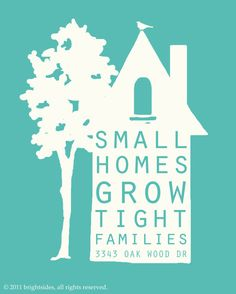small homes  8x10  customizable  Mother's by brightsidesdesigns, $15.00