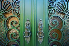Art Nouveau door detail (Brussels, Belgium)