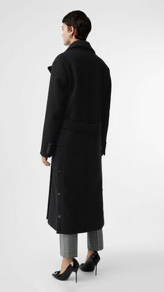 d1520859b8e Abrigo de vestir en cachemir de doble cara (Negro) - Mujer