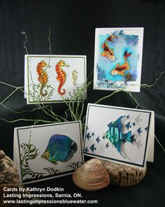 Cards using Designs by Ryn stamps