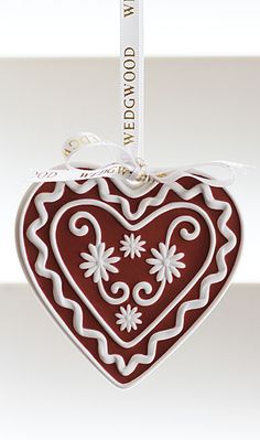 Wedgwood 2013 Christmas Red Heart Ornament