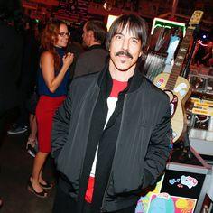 Anthony Kiedisat Stella McCartney's Autumn 2016 show at Amoeba Music in Los Angeles.