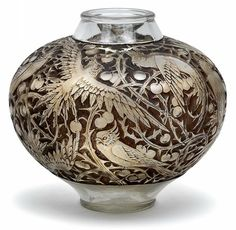 "An ""Aras"" vase,  René Lalique, Wingen-sur-Moder, designed in 1924,"