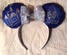 Unique Disney's 60th Anniversary Minnie Mouse Ears Headband by MissasTreasures on Etsy https://www.etsy.com/listing/230187545/unique-disneys-60th-anniversary-minnie