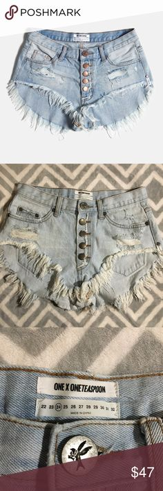 One x one teaspoon roller shorts! Perfect condition! Super cute and fun! One Teaspoon Shorts Jean Shorts