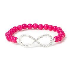 Rhinestone Infinity Symbol Beaded Stretch Bracelet #moreismore