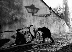 Man with Bike, Prague, 2000 - by Stanko Abadžić (1952), Croatian