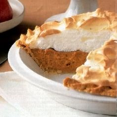 Alabama Sweet-Potato Meringue Pie Reap the health benefits of sweet potatoes with your sweet tooth, too! This classic Southern recipe transforms the root vegetable into a delectable pie filling with light molasses and cinnamon, and tops it off with a fluffy, golden meringue.