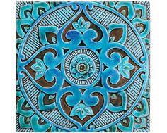 Mandala arte de pared hecho de cerámica arte exterior por GVEGA