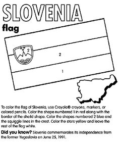 Slovenia coloring page Car Games For Kids, Activities For Kids, Slovenia Flag, Flag Coloring Pages, Thinking Day, Early Education, To Color, Social Studies, Colored Pencils