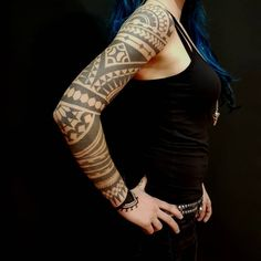 JACQULINE SPOERLE Black Ink Tattoos, Tribal Tattoos, Tattoo Ideas, Tattoo Designs, Image Fun, Tattoo Inspiration, Beautiful Images, Tatting, Canvas