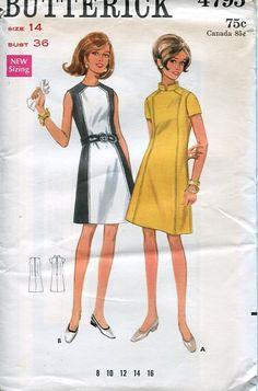 Butterick 4795 Retro 1960's Mod Dress