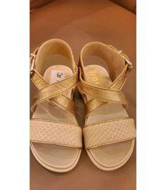 520df03bd Sandalia niña Unisa oro viejo y piel - Calzado niña Mi Gatito Pepo