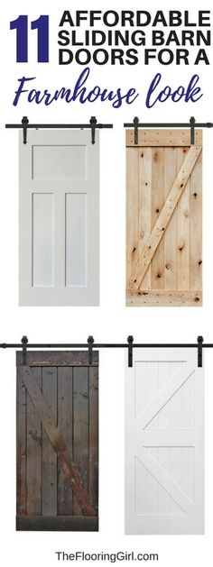 Sliding barn doors for farmhouse style decor. If you're into the farmhouse look, then you know how super stylish sliding barn doors have become. They really add a dramatic finishing touch for a genuine modern rustic look. Diy Sliding Barn Door, Diy Barn Door, Sliding Doors, Closet Barn Doors, Barn Style Doors, Barn Door White, Barn Door For Bathroom, Building A Barn Door, Pantry Doors