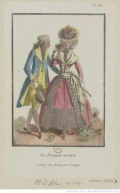 Titre:Le Bouquet accepté. : [estampe] / [Louis-Marin Bonnet] Auteur:Bonnet, Louis-Marin (1743-1793). Graveur