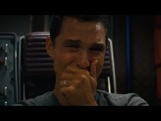 interstellar - Cooper crying  I thought it would be Wow, outer space, and it was, but even more powerful, leaving the daughter