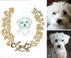 Custom Pet Portrait Dog Sample by laurenmoyer on Etsy, $60.00