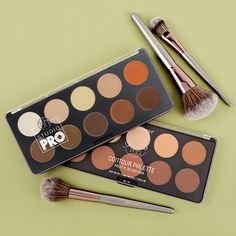 Studio Pro Cream Contour Palette Makeup Tips, Hair Makeup, Natural Glam Makeup, Cream Contour, Contour Palette, Face Beat, Face Skin Care, Bh Cosmetics, All Things Beauty