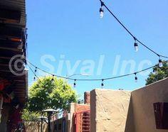 Commercial-grade string lights, patio string lights, bistro string lights, vintage lights