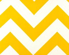 """home dec fabric, large scale chevron, sunny yellow 1 yard $11, 54"""", etsy shop decorate23"""