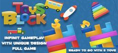 Toys Block Unity Source Code by Wolfstudioeleven Buy Toys, Game App, Unity, Coding, Games, Cyber Monday, Black Friday, Gaming, Plays