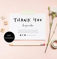 business thank you cards Business Thank You For Your Order Inserts Printable Thank You Inserts Etsy Shop Thank You Note Etsy Thank You Notes Thank You Order Cards Parcel Insert Thank You Card Design, Thank You Card Template, Thank You For Order, Business Thank You Cards, Thanks Card, Thanks Note, 2 Logo, Etsy Business, Online Print Shop
