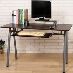 PChome線上購物 - 24h 購物《《傑尼》電線孔蓋鍵盤A型工作桌-寬120公分(2色)》