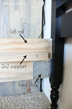 How to make your own bed rails for an antique bed, DIY bed rails, DIY side rails