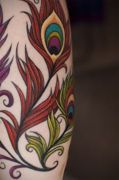 peacock #ink #tattoo #feather