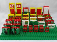 Vintage Lego windows & doors - various themes - good selection -approx 40 pieces