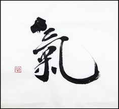 "気 (""ki"" this word has multiple meanings: spirit, mind, nature (of things, energy (spiritual), etc)"